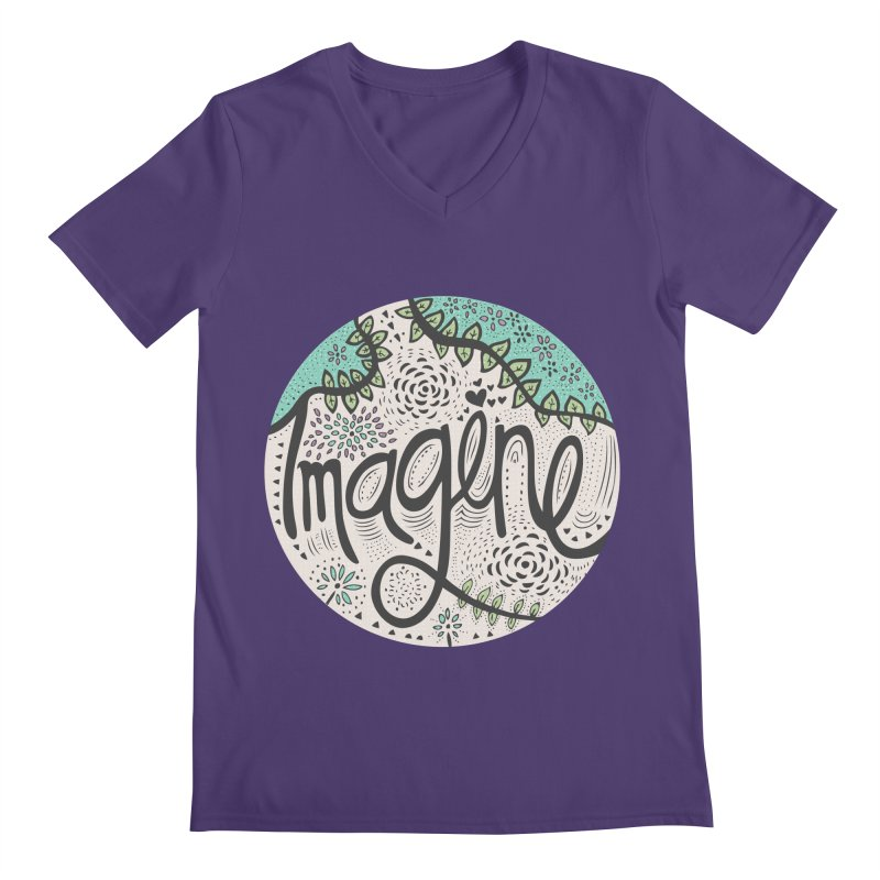 Imagine Nature Men's V-Neck by pomgraphicdesign's Shop
