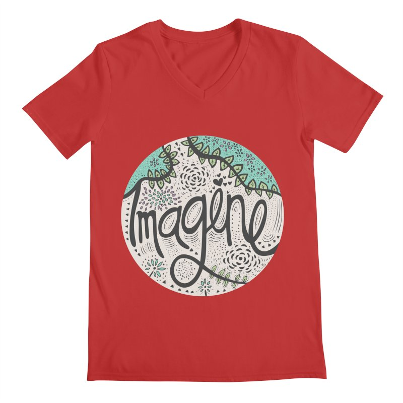 Imagine Nature Men's V-Neck by pomgraphicdesign's Shop