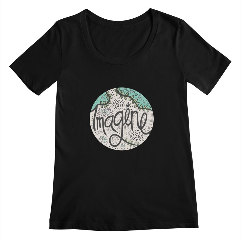 Imagine Nature Women's Scoopneck by pomgraphicdesign's Shop