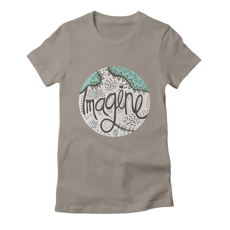 Imagine Nature Women's Fitted T-Shirt by pomgraphicdesign's Shop