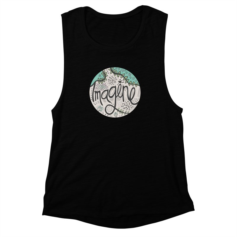 Imagine Nature Women's Muscle Tank by pomgraphicdesign's Shop