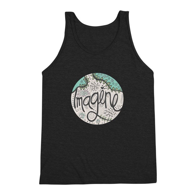 Imagine Nature Men's Triblend Tank by pomgraphicdesign's Shop