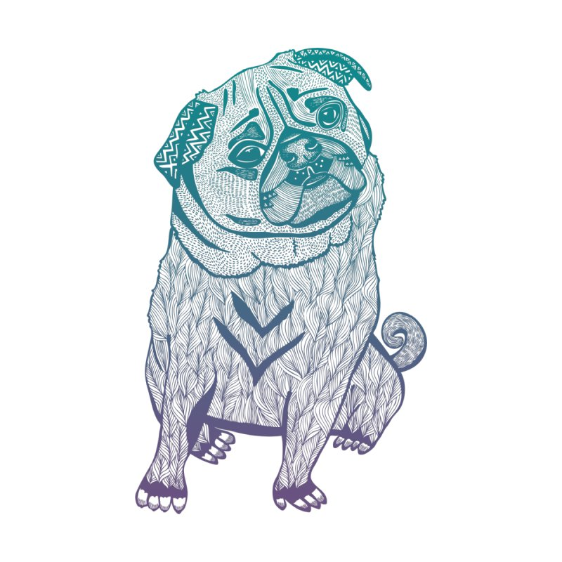 Ares The Pug None  by pomgraphicdesign's Shop