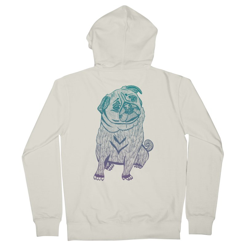 Ares The Pug Men's Zip-Up Hoody by pomgraphicdesign's Shop