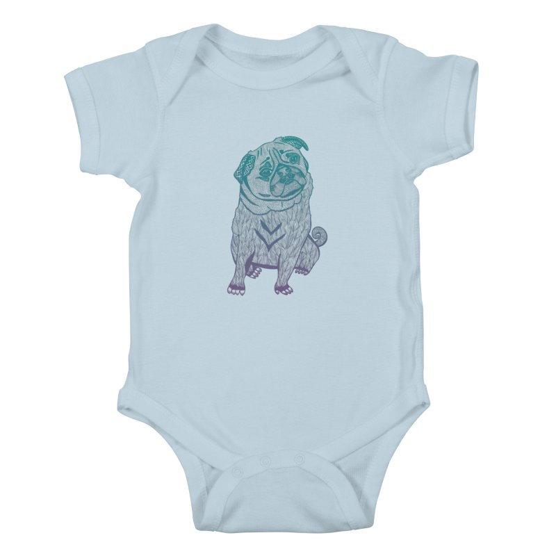 Ares The Pug Kids Baby Bodysuit by pomgraphicdesign's Shop