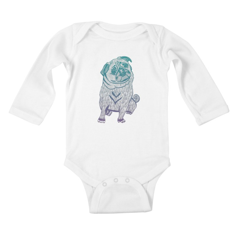 Ares The Pug Kids Baby Longsleeve Bodysuit by pomgraphicdesign's Shop