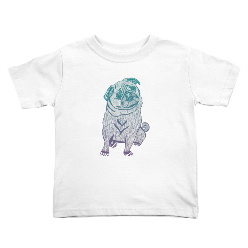 Ares The Pug Kids Toddler T-Shirt by pomgraphicdesign's Shop