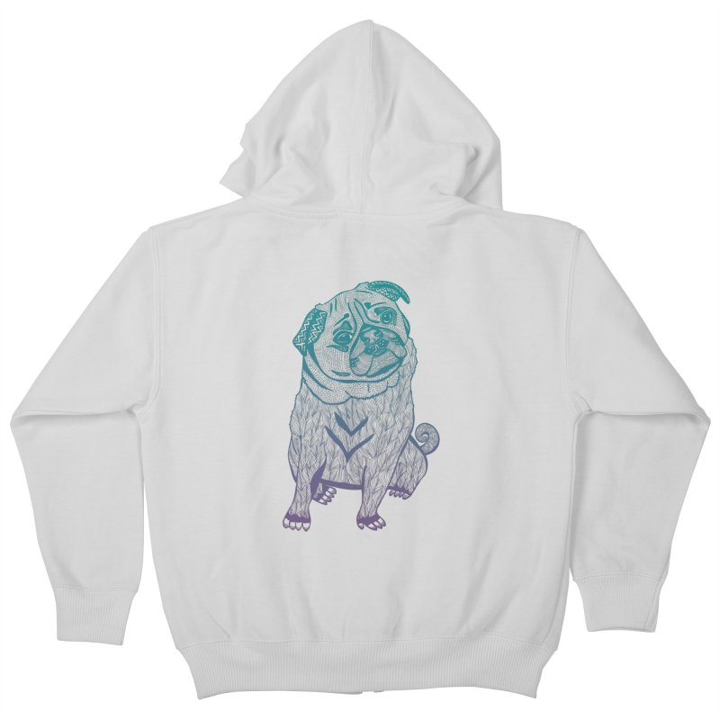Ares The Pug Kids Zip-Up Hoody by pomgraphicdesign's Shop
