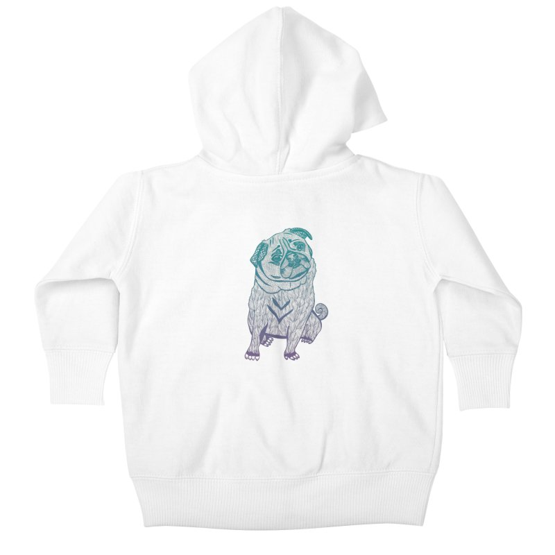 Ares The Pug Kids Baby Zip-Up Hoody by pomgraphicdesign's Shop