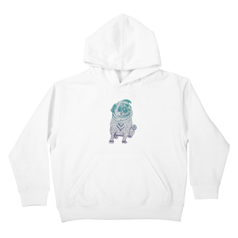 Ares The Pug Kids Pullover Hoody by pomgraphicdesign's Shop