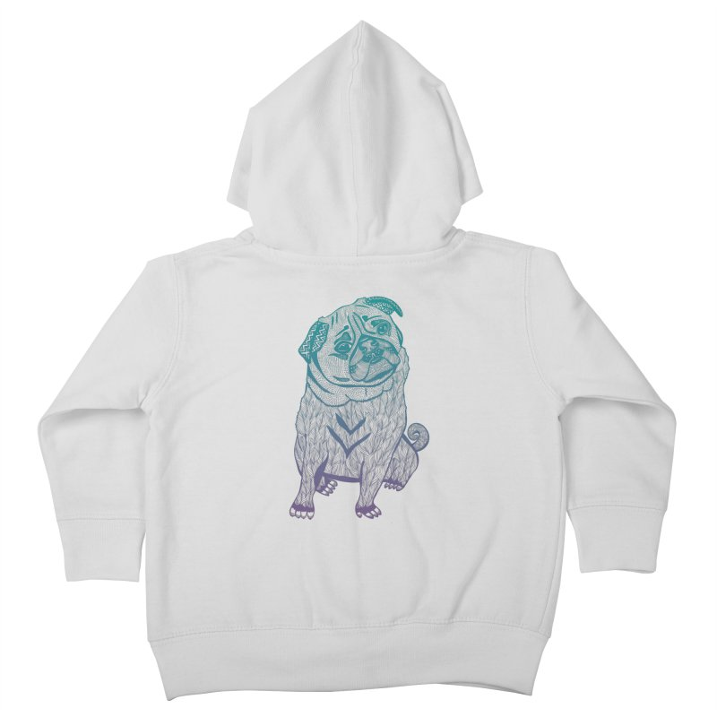 Ares The Pug Kids Toddler Zip-Up Hoody by pomgraphicdesign's Shop