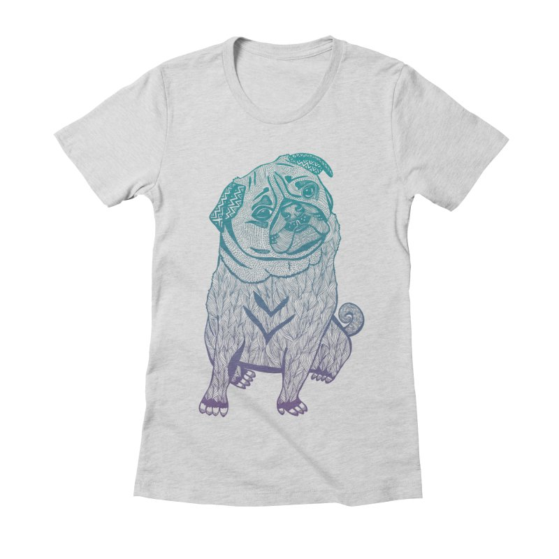 Ares The Pug Women's Fitted T-Shirt by pomgraphicdesign's Shop