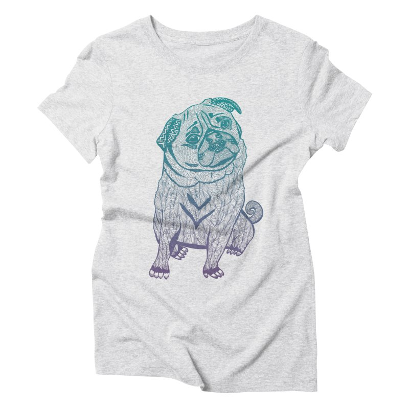 Ares The Pug Women's Triblend T-Shirt by pomgraphicdesign's Shop