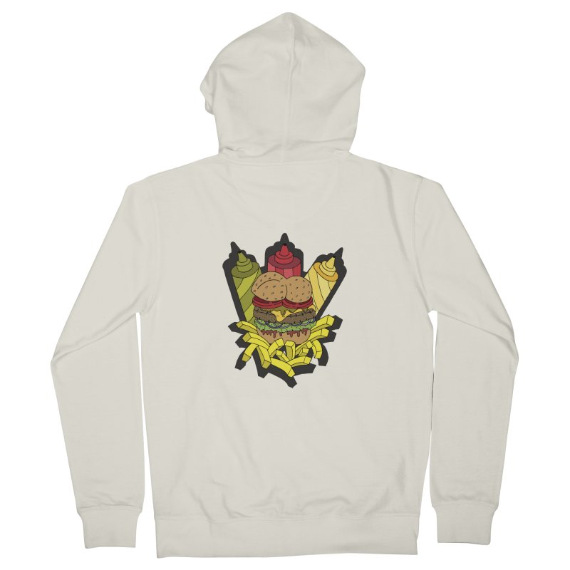 Awesome Burger Men's Zip-Up Hoody by Pony Biam!
