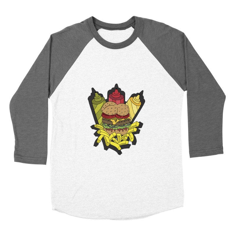 Awesome Burger Women's Baseball Triblend T-Shirt by Pony Biam!