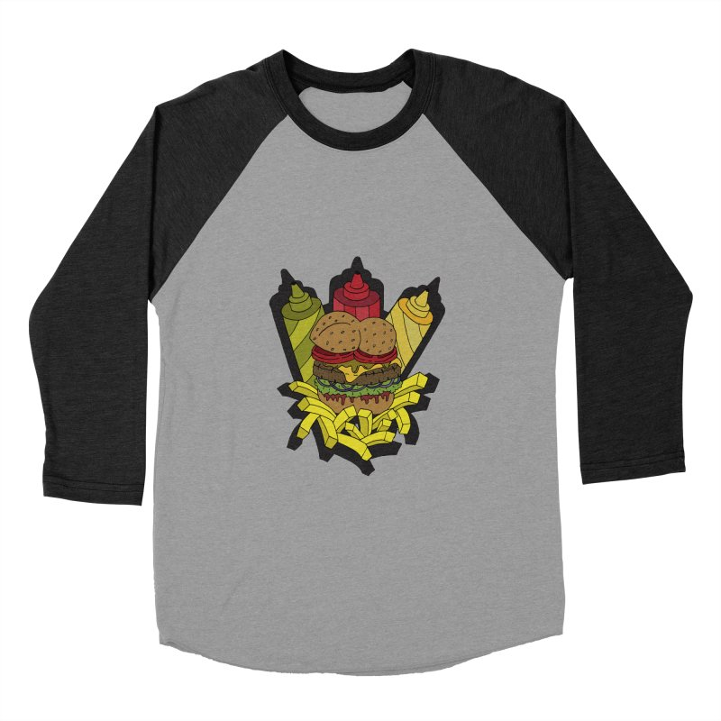 Awesome Burger Men's Baseball Triblend T-Shirt by Pony Biam!