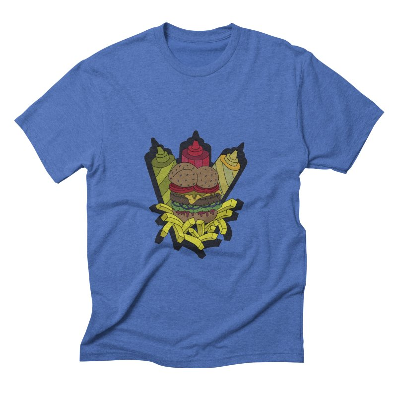 Awesome Burger Men's Triblend T-shirt by Pony Biam!
