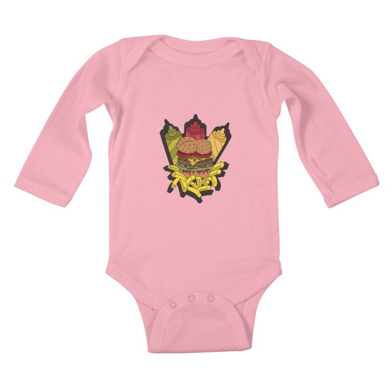 Awesome Burger Kids Baby Longsleeve Bodysuit by Pony Biam!