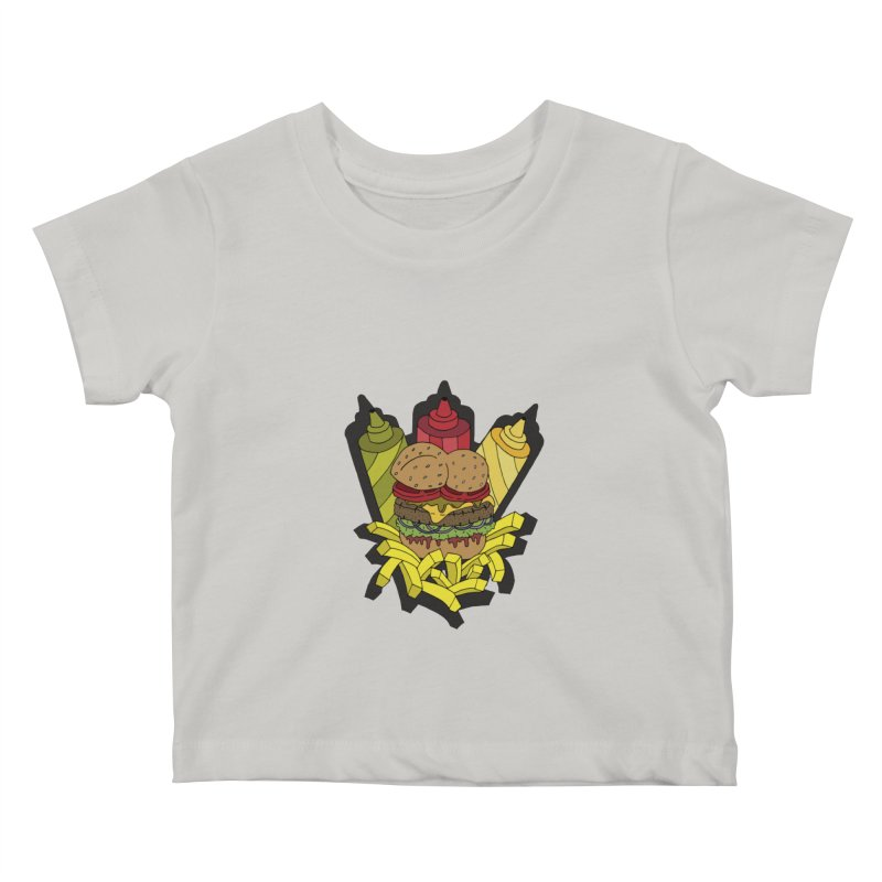 Awesome Burger Kids Baby T-Shirt by Pony Biam!
