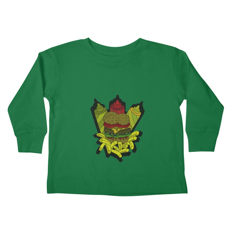 Awesome Burger Kids Toddler Longsleeve T-Shirt by Pony Biam!
