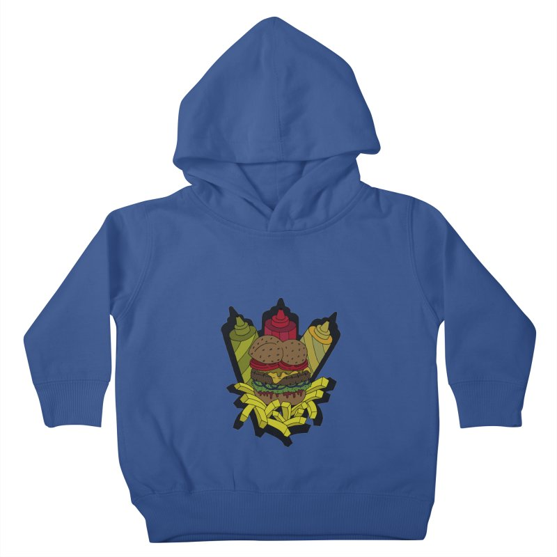 Awesome Burger Kids Toddler Pullover Hoody by Pony Biam!