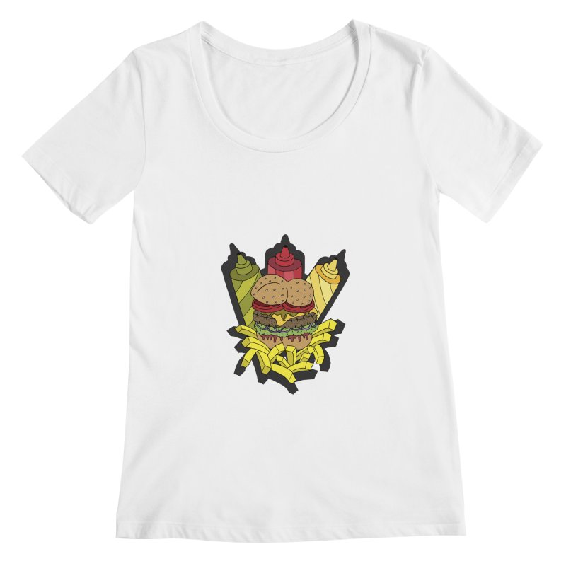 Awesome Burger Women's Scoopneck by Pony Biam!