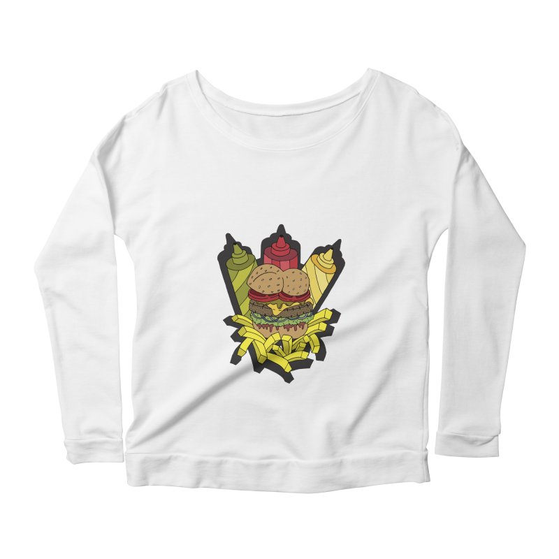 Awesome Burger Women's Longsleeve Scoopneck  by Pony Biam!