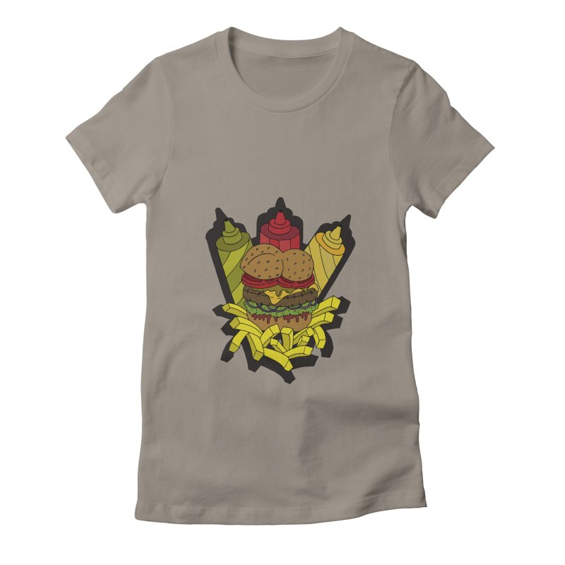 Awesome Burger Women's Fitted T-Shirt by Pony Biam!