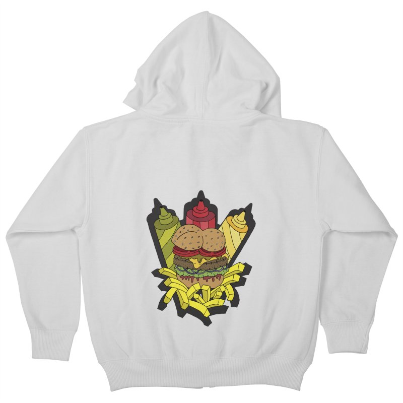 Awesome Burger Kids Zip-Up Hoody by Pony Biam!