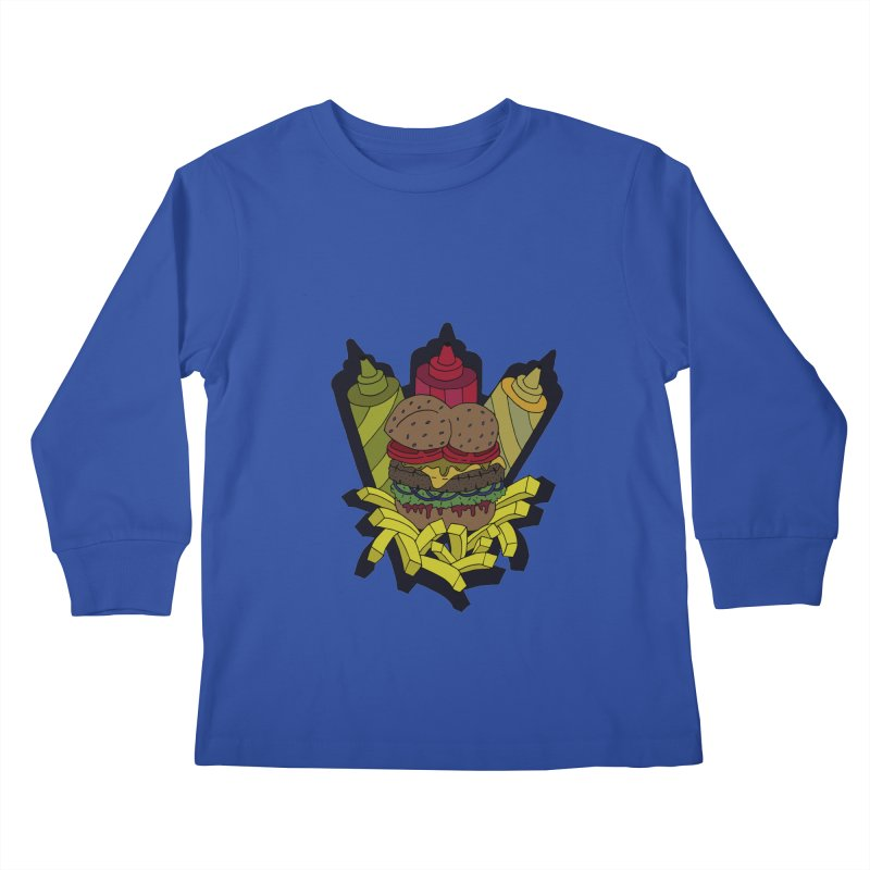 Awesome Burger Kids Longsleeve T-Shirt by Pony Biam!