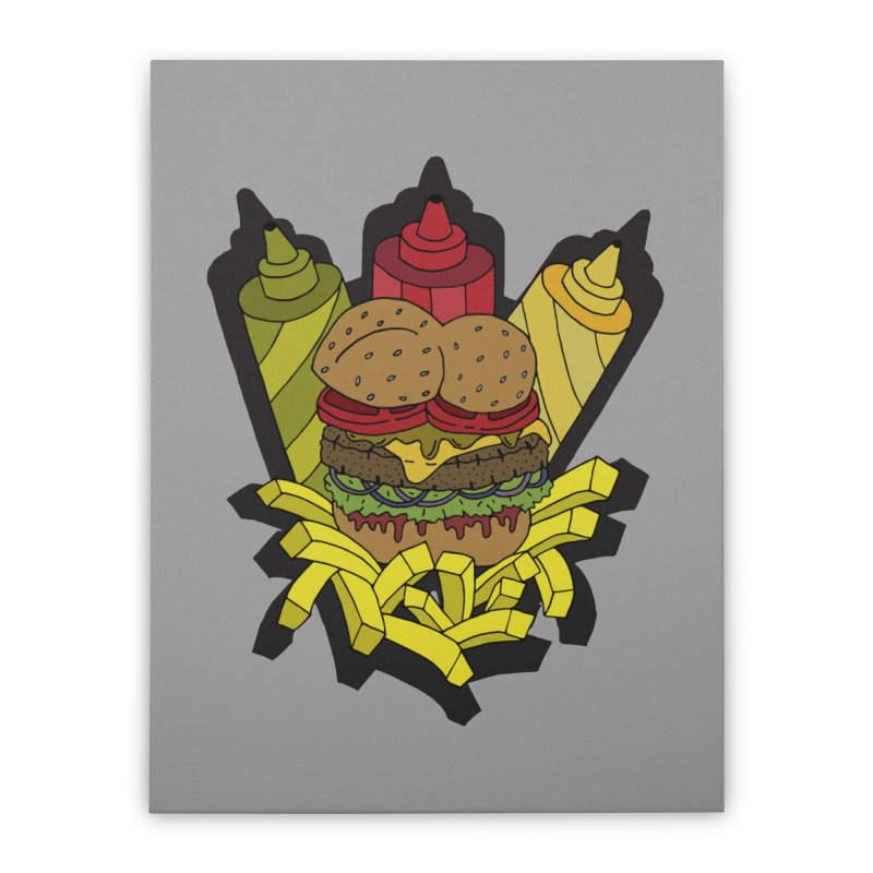 Awesome Burger Home Stretched Canvas by Pony Biam!