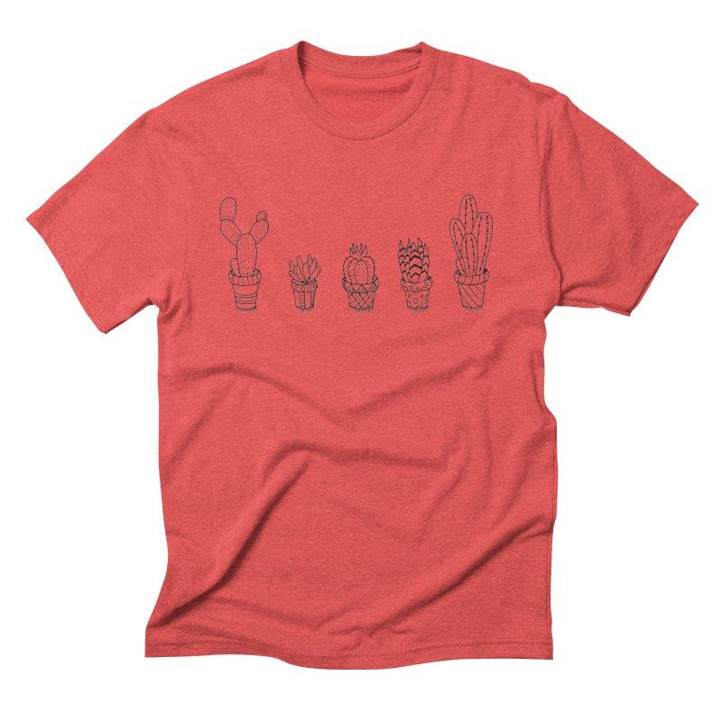 Cactus & Succulent Men's Triblend T-Shirt by Pony Biam!
