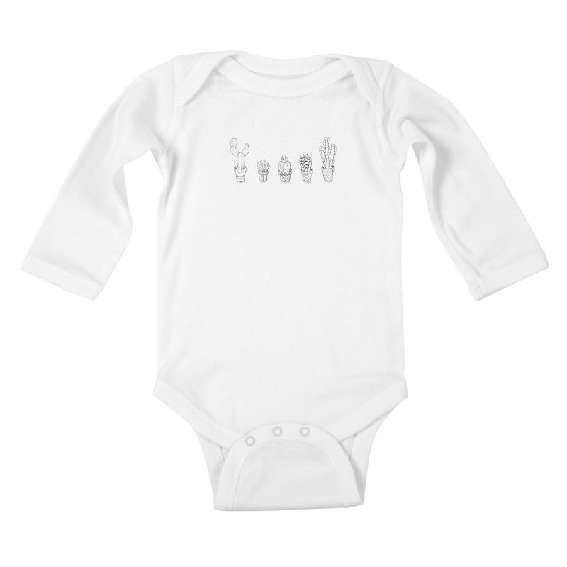 Cactus & Succulent Kids Baby Longsleeve Bodysuit by Pony Biam!