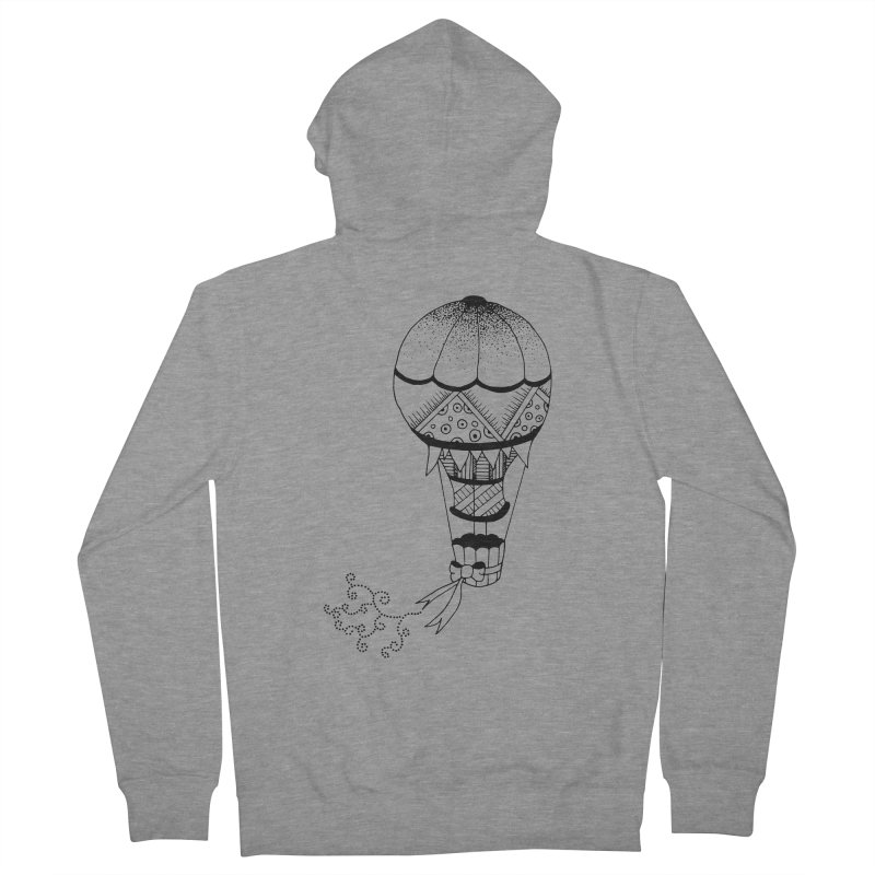 Hot Air Balloon Men's Zip-Up Hoody by Pony Biam!