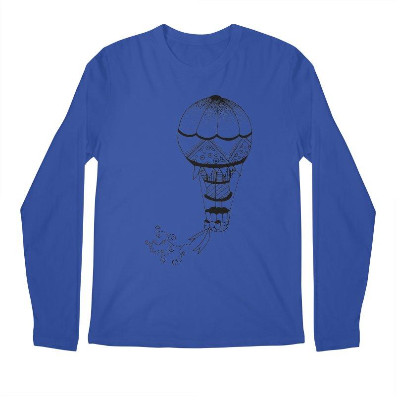 Hot Air Balloon Men's Longsleeve T-Shirt by Pony Biam!