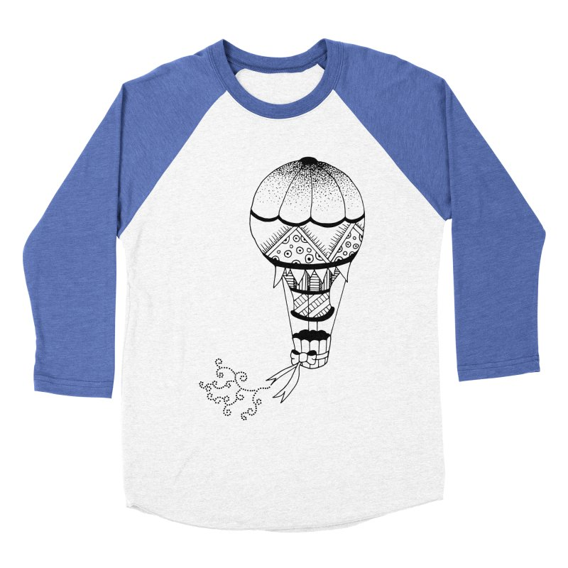 Hot Air Balloon Women's Baseball Triblend T-Shirt by Pony Biam!