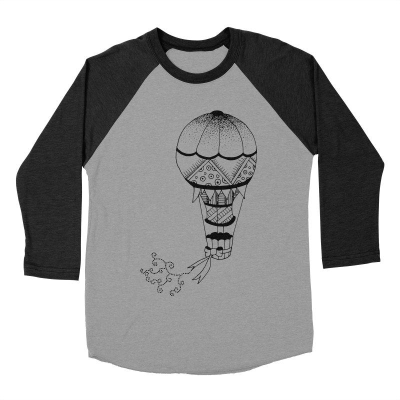 Hot Air Balloon Women's Baseball Triblend T-Shirt by Pony Biam!