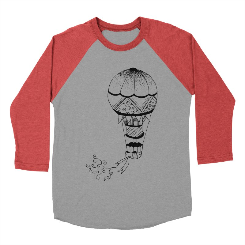 Hot Air Balloon Men's Baseball Triblend T-Shirt by Pony Biam!