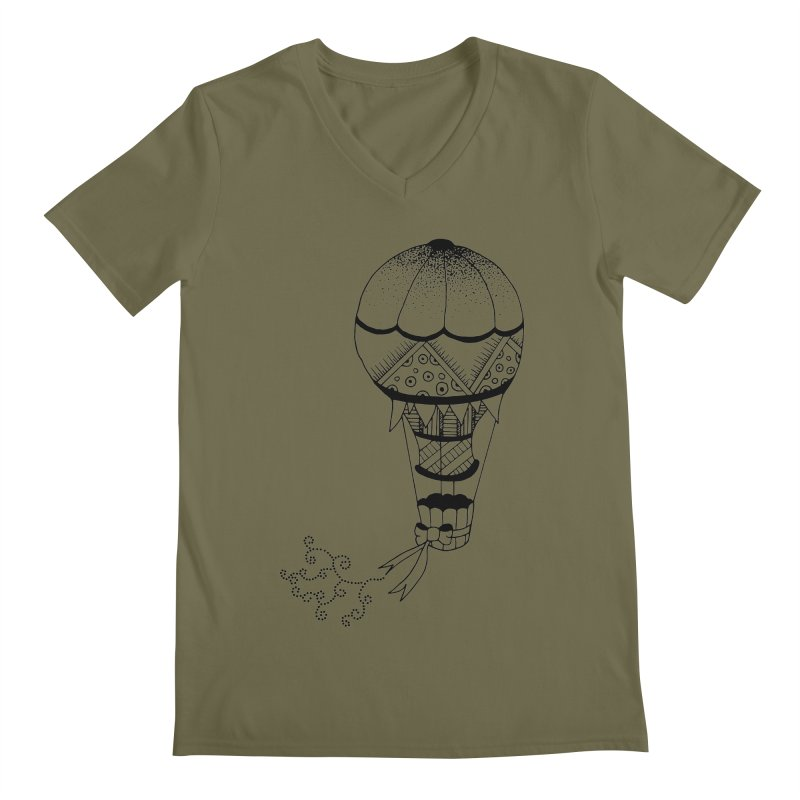 Hot Air Balloon Men's V-Neck by Pony Biam!