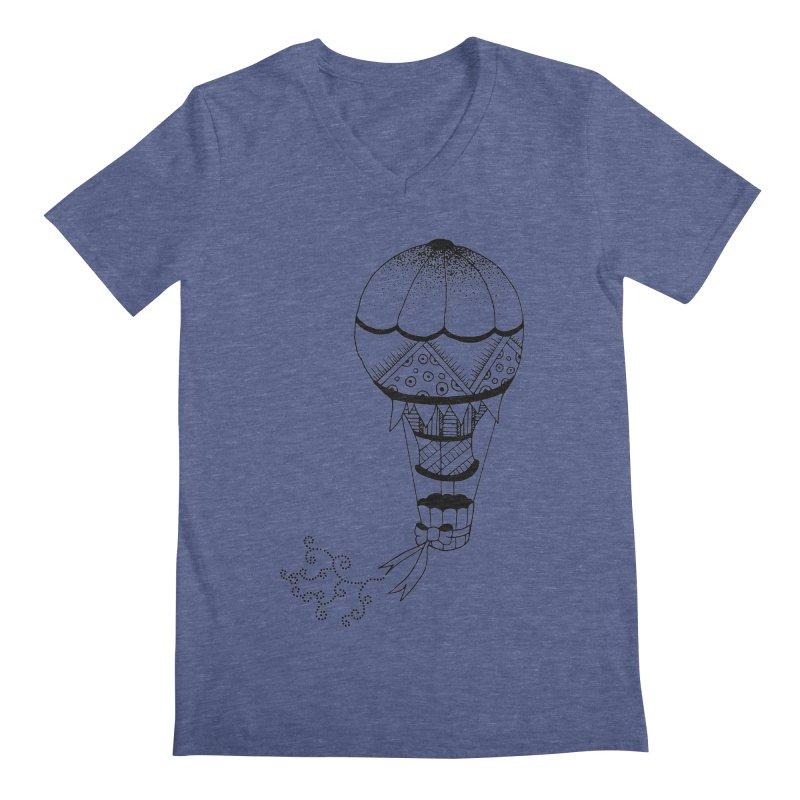 Hot Air Balloon Men's V-Neck by Pony Biam!