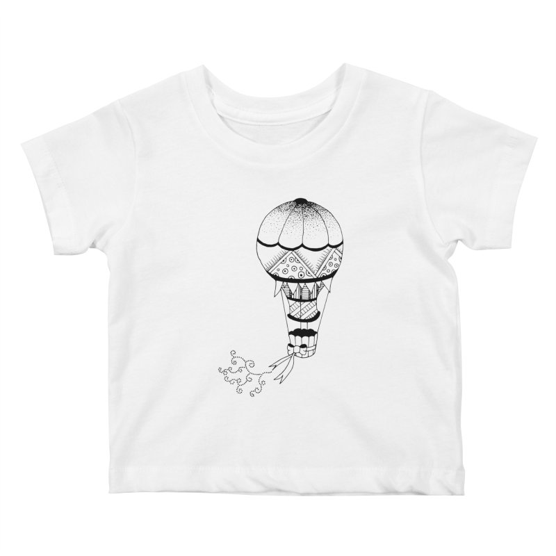 Hot Air Balloon Kids Baby T-Shirt by Pony Biam!