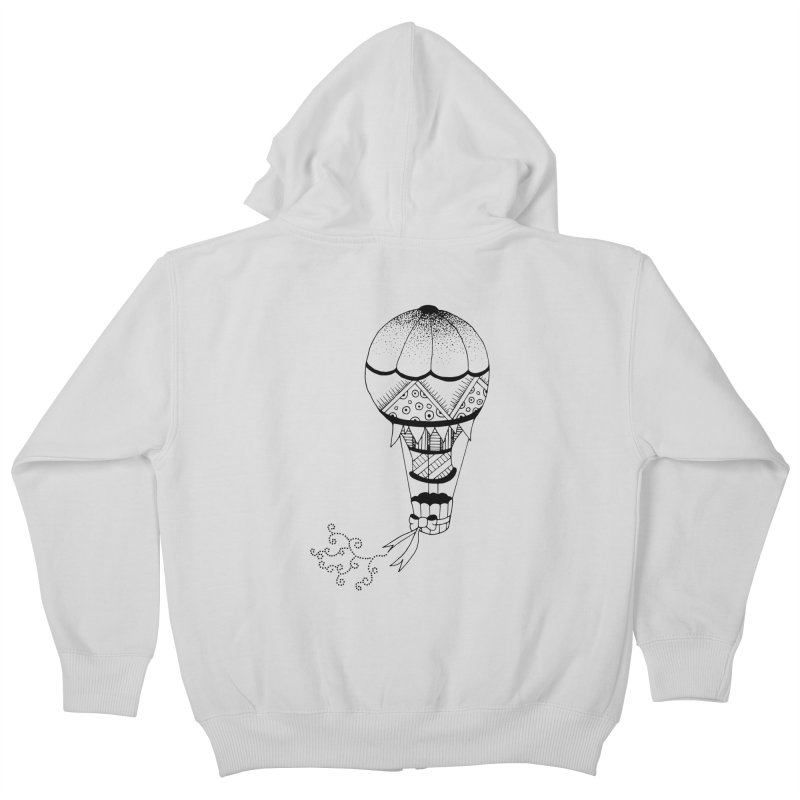 Hot Air Balloon Kids Zip-Up Hoody by Pony Biam!