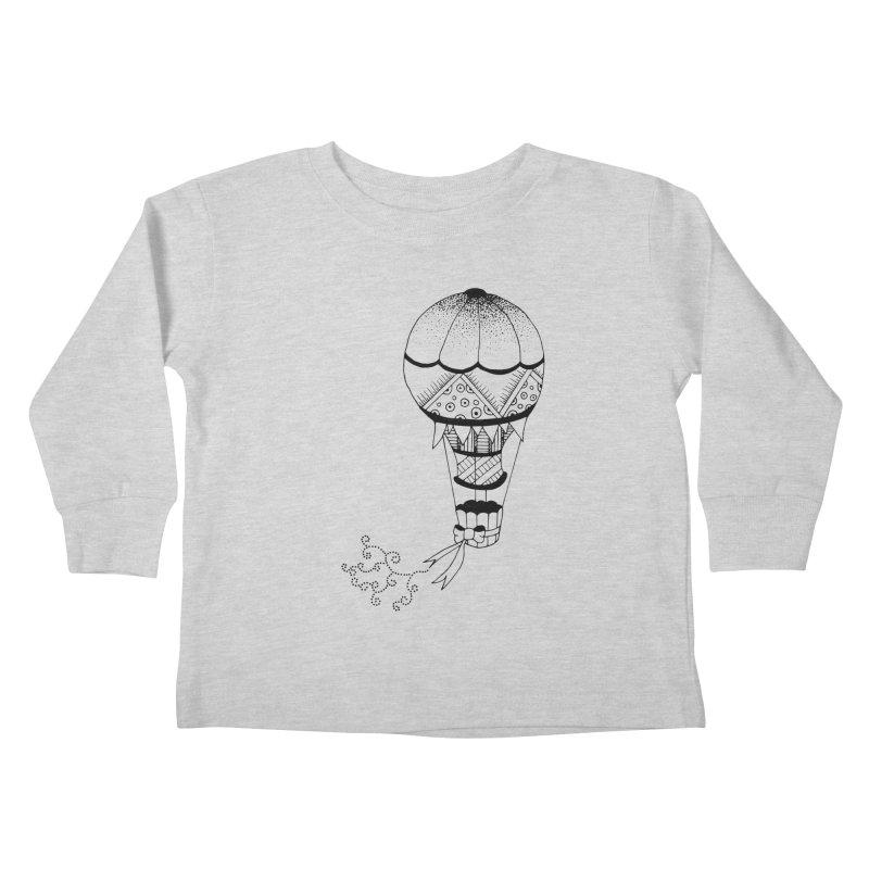 Hot Air Balloon Kids Toddler Longsleeve T-Shirt by Pony Biam!