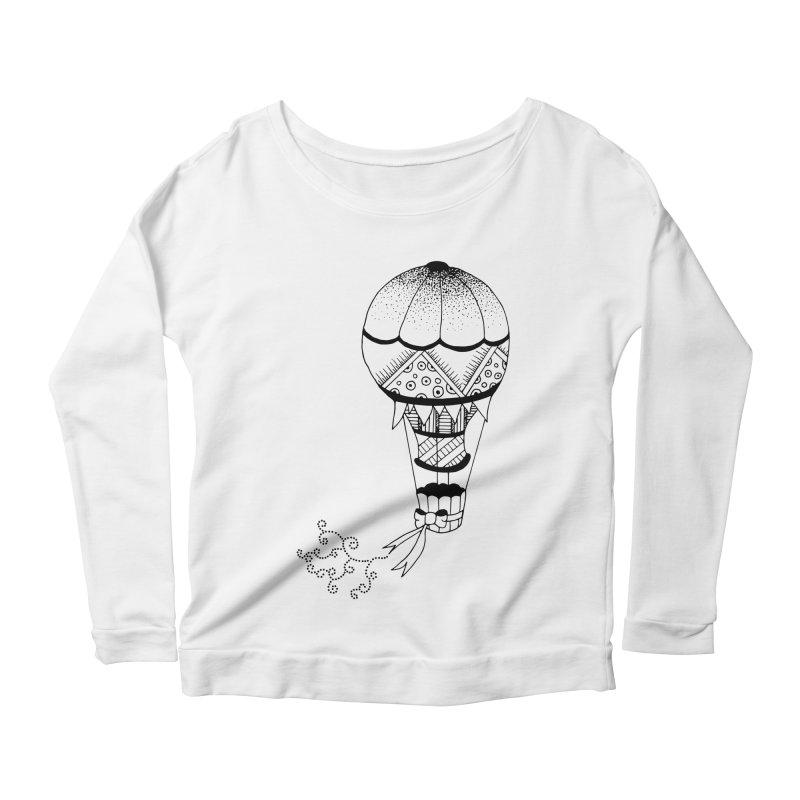 Hot Air Balloon Women's Longsleeve Scoopneck  by Pony Biam!