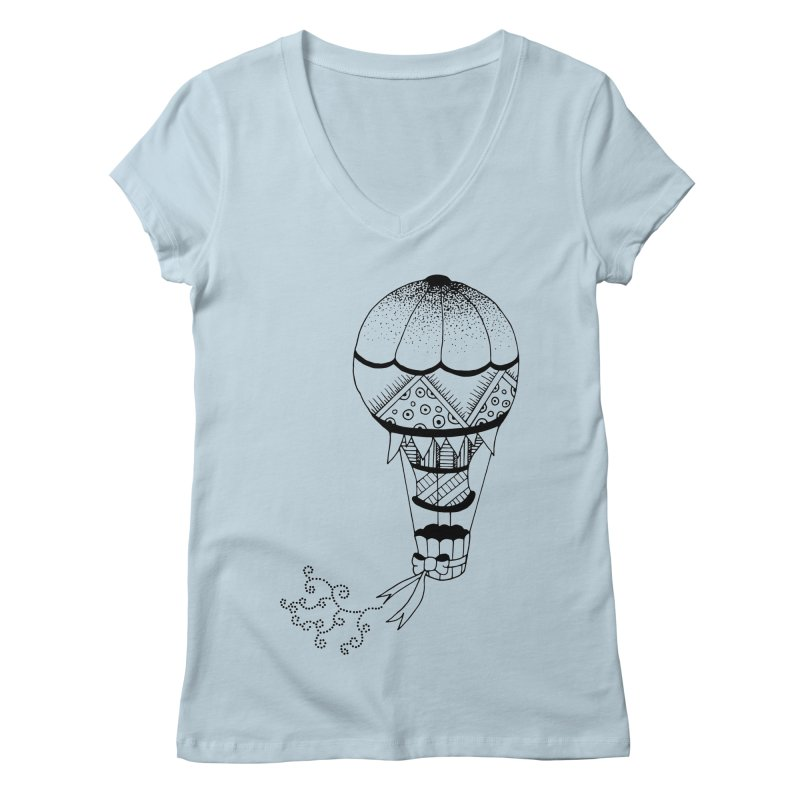 Hot Air Balloon Women's V-Neck by Pony Biam!