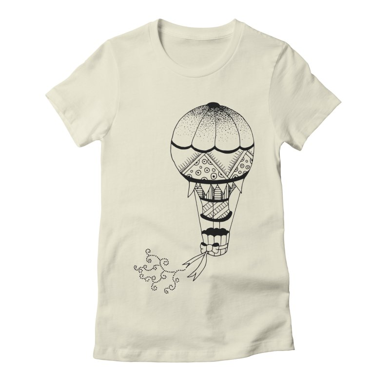 Hot Air Balloon Women's Fitted T-Shirt by Pony Biam!