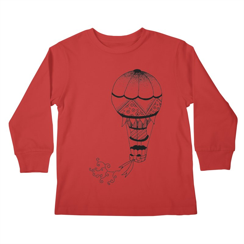Hot Air Balloon Kids Longsleeve T-Shirt by Pony Biam!