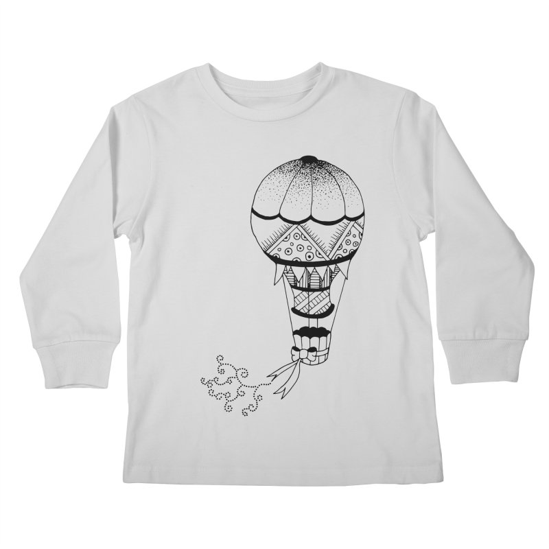 Hot Air Balloon Kids Longsleeve T-Shirt by Pony Biam!