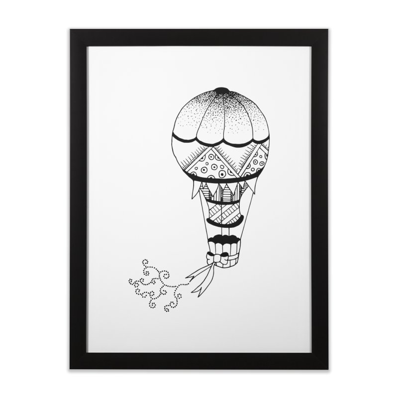 Hot Air Balloon Home Framed Fine Art Print by Pony Biam!