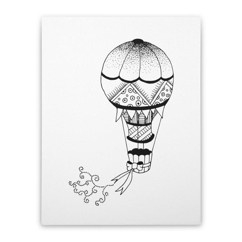 Hot Air Balloon Home Stretched Canvas by Pony Biam!